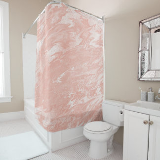 chocolate coral and gold shower curtain. Pink Rose Gold Coral Peach Molten Marble White Shower Curtain And Curtains  Zazzle