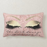 "Pink Rose Gold Glitter Glam Makeup Lashes Beauty Lumbar Pillow<br><div class=""desc"">Sparkly Glam Home Resort Decor