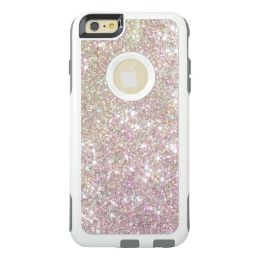 Christmas Themed Pink Rose Gold Glitter Otterbox iPhone 6 Case