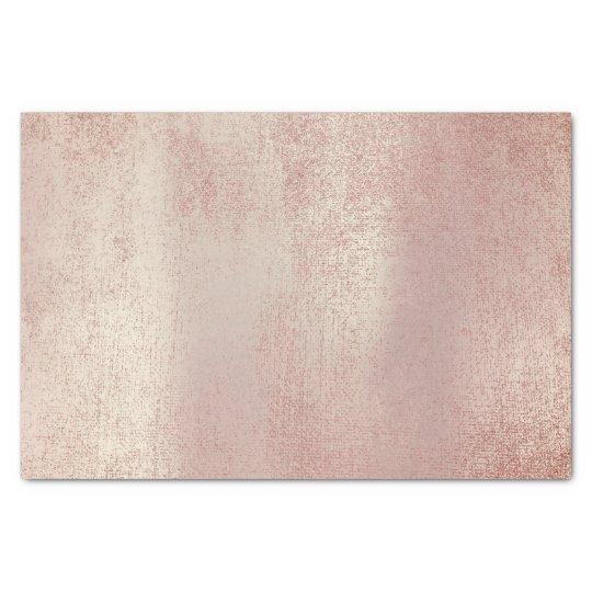 Pink Rose Gold Metallic Blush Powder Tissue Paper Zazzle Com