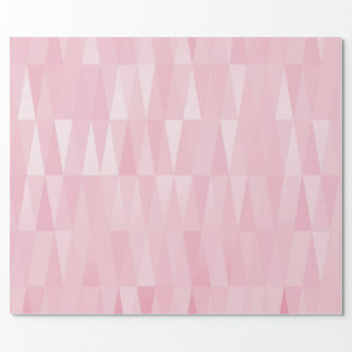 Pink Rose Gold Silver Geometric Diamonds Shape Wrapping Paper