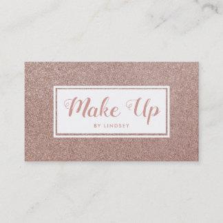 Pink Rose Gold Sparkle Glitter Make Up Artist Business Card