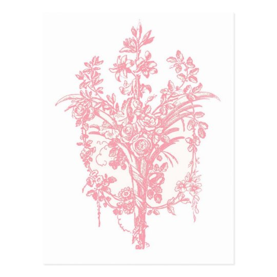 Pink Rose Graphic Postcard