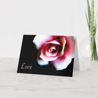 Pink Rose Greeting Card card