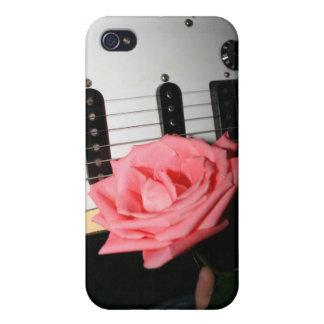 Pink rose guitar body strings pickguard music iPhone 4 covers