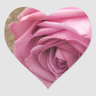 Pink Rose Heart Sticker