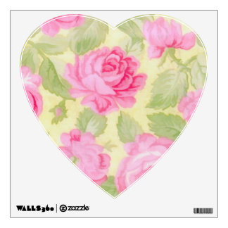 Pink Rose Heart Wall Decal