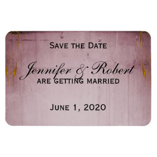 Pink Rose Hummingbird Save the Date Magnet