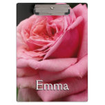 Pink Rose I Pretty Floral Photography Clipboard