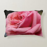 Pink Rose I Pretty Floral Photography Decorative Pillow