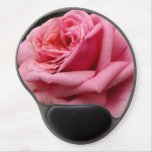 Pink Rose I Pretty Floral Photography Gel Mouse Pad