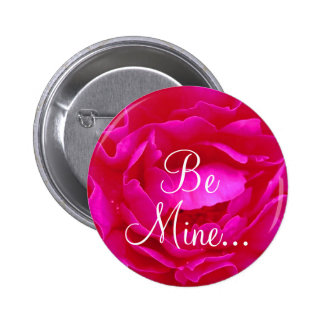 Pink Rose II Button