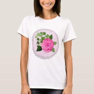 Pink Rose Illustration T-Shirt