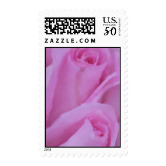 PINK ROSE IMPRESSION POSTAGE