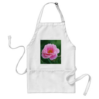 Pink rose in full bloom and meaning adult apron