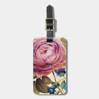 Pink Rose in Full Bloom Bag Tag