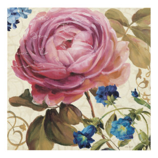 Pink Rose in Full Bloom Panel Wall Art