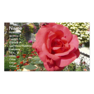 Pink Rose in Grandma's Garden Double-Sided Standard Business Cards (Pack Of 100)