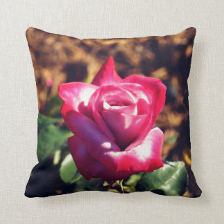Pink Rose in the High Sun Throw Pillow
