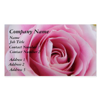 Pink Rose In The Rain Business Cards