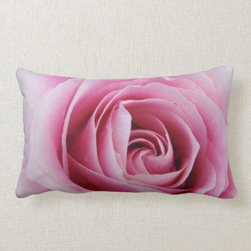 Pink Rose in the Rain Pillow