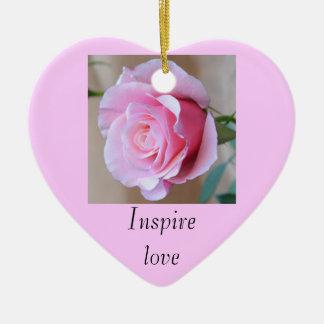 Pink Rose Inspire Love Ornament