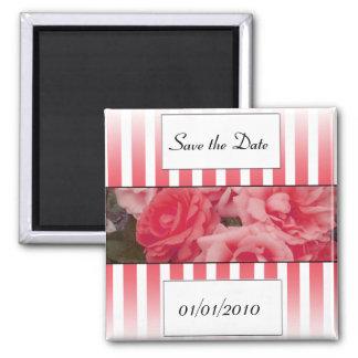 Pink rose invitation save the date wedding invite fridge magnets