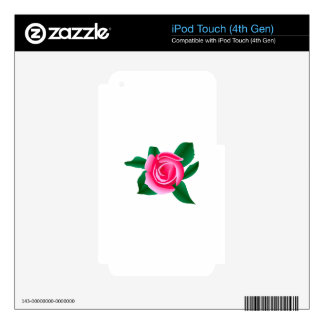 Pink Rose iPod Touch 4G Skin