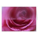 pink rose italian festa della mamma card