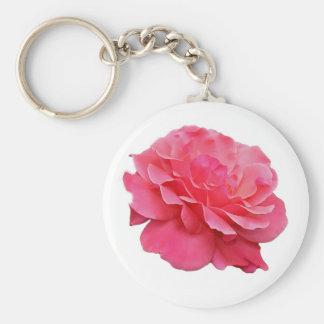 Pink Rose Keychain