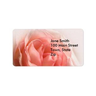 Pink Rose Labels