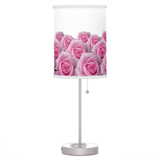 pink rose lamp summer roses flower floor lamp zazzle With pink rose floor lamp
