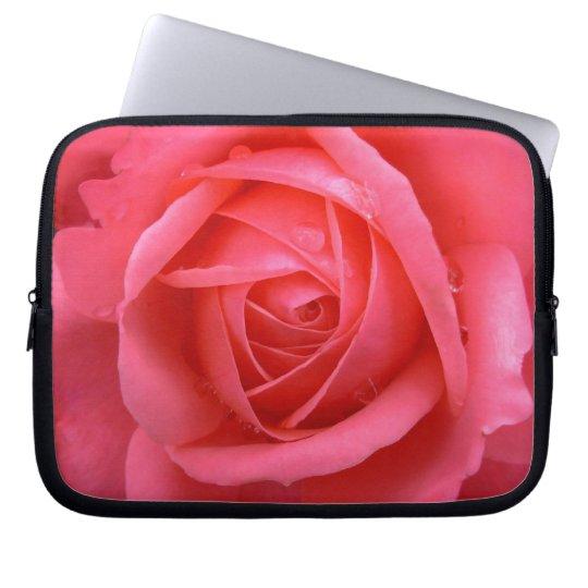 Pink Rose Laptop Sleeve Romantic Rose Tablet Case