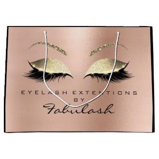 Pink Rose Lashes Blush Makeup  Minimal Branding Large Gift Bag
