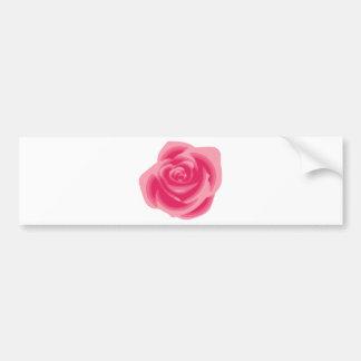 Pink Rose Light Pastelle Pink Delicate Flower Car Bumper Sticker