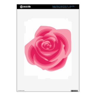 Pink Rose Light Pastelle Pink Delicate Flower Skin For iPad 3