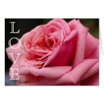 Pink Rose LOVE Card
