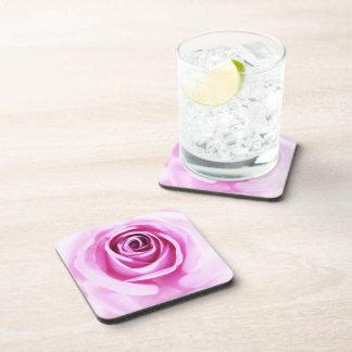Pink Rose Love Flower Set of 6 Coaster