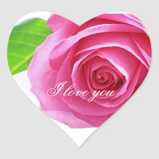 Pink rose, love gift sticker