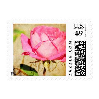 Pink Rose Love Postage