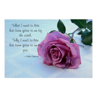 Pink Rose Love Quote Poster