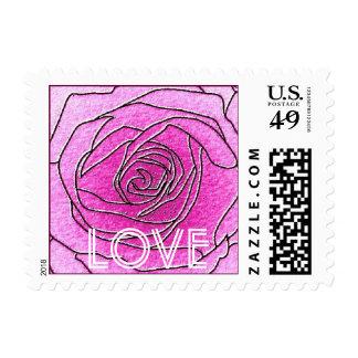 Pink Rose Love Stamp