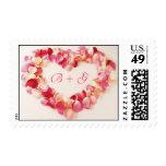 Pink Rose Love Wedding Invitation Postage Stamp