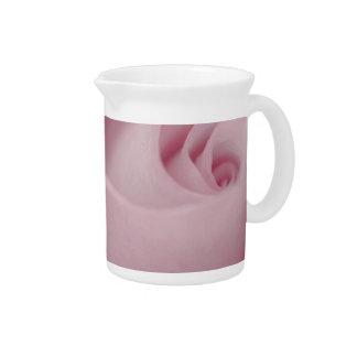 Pink Rose Macro Beverage Pitcher