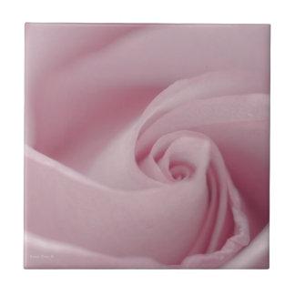 Pink Rose Macro Ceramic Tile