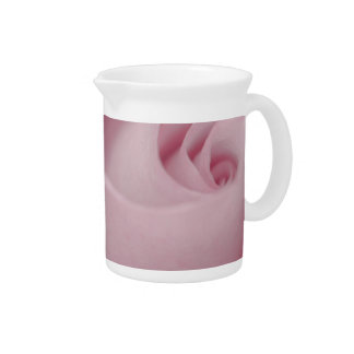 Pink Rose Macro Drink Pitchers
