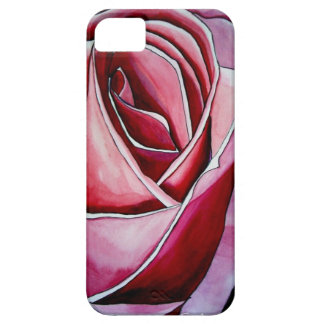 Pink Rose macro flower watercolor abstract art iPhone SE/5/5s Case