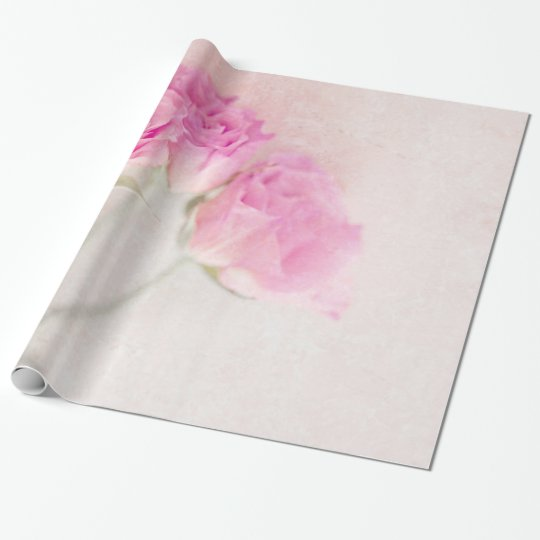 Pink Rose Marble Stone Background Collage Roses Wrapping