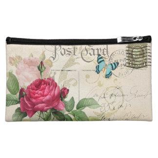 Pink Rose Medium Cosmetic Bag