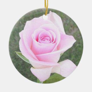 Pink Rose Memorial Ornament-2 Ceramic Ornament